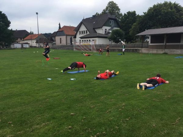 1. Herrenmanschaft im Trainingslager