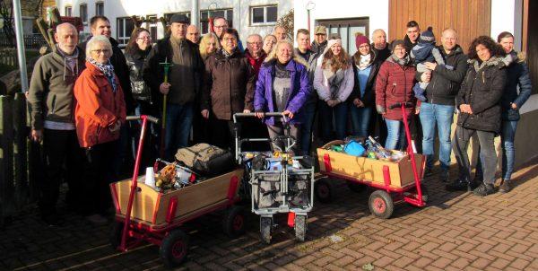 Die Lauenberger Sollingmusikanten auf Boßel-Tour