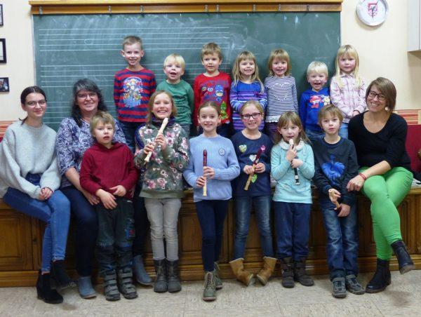 Weihnachtsfeier der Nachwuchsgruppe der Lauenberger Sollingmusikanten
